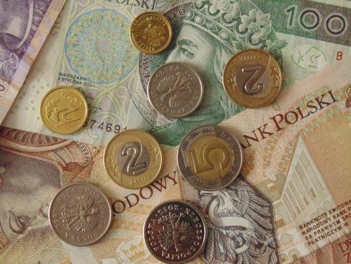 dinero cracovia polonia